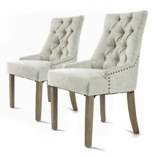 La Bella French Provincial Oak Leg Chair Amour, Cream - 2 Pack