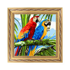 DIY 5D Diamond Two Parrots Embroidery Painting Cross Stitch Craft Home Decor