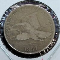 1857 Flying Eagle Cent Penny Coin CHOICE Fine NEARLY VF Pre Civil War Era
