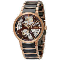 Rado Centrix Automatic Brown Skeleton Dial Men's Watch R30181312