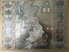 More details for 4 antique maps. gold and silver foiled, mirrored and etched