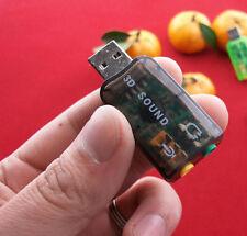 1pc USB 2.0 Sound Card CM108 Audio Headset Microphone Jack Converter 7.1 CH