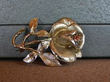 Costume Jewellery Brooch Rose With Stone in Centre  5.5cm