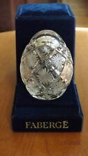 Faberge Egg Cut Crystal Signed and Numbered #1432 in Velvet Case