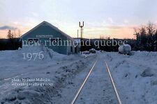 Canadian National Rwy  New Richmond station Quebec 1976   Gaspe Peninsula x
