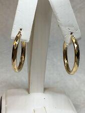 Vintage MEX 10K Yellow Gold Diamond Cut Hoop Earrings GO35 - 3.4g
