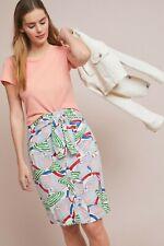 Anthropologie Button Front Pencil Skirt Size 6 NWT Umbrellas NWT
