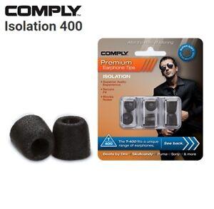 Comply Foam T-400 Isolation 3 Pairs In-Ear Earphone Tips Medium Black CK