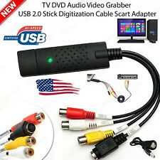 Easycap USB 2.0 Audio Video VHS to DVD Converter Capture Card Dongle Adapter NEW