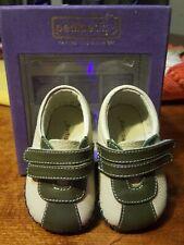 Pediped Originals Josh Infant Crib Shoes beige/olive Size 0-6 Months NEW