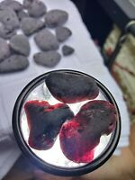 GENUINE  RARE black /purple sea glass ( lot of 15 mixed size pieces) .