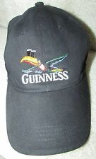 Guinness Black Baseball Hat Cap One Size Fits Most EUC