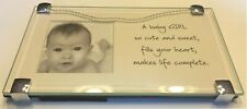 Baby Girl Glass Picture Frame and Quote Keepsakes Newborn Home Announcements New