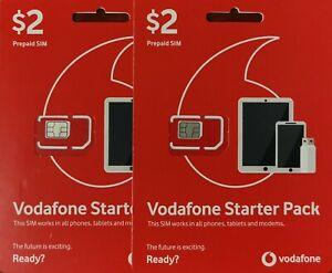 Vodafone $2 Starter Pack x 2