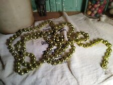Vintage Christmas Mercury Glass Chartreuse Beads Garland String 6 Ft