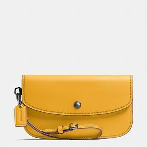 Coach Glovetanned Leather Clutch/Wristlet in Goldenrod - Style No. 58818