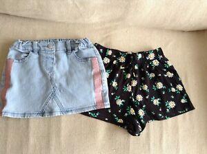 KIDS & CO Blue Denim Skirt & Target shorts - Size 5-6