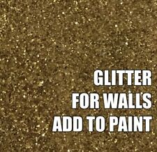 "100g FINE GOLD GLITTER FOR WALLS ADD TO PAINT OR VARNISH ADDITIVE .008"" .2mm"