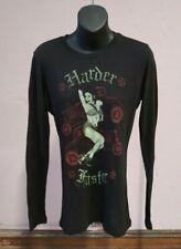 "Sourpuss ""Harder, Faster"" Hot Rod Pinup Girl Women's steampunk Long Sleeve, M"