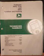 John Deere Werkstatthandbuch 7610 + 7710 + 7810 Funktion und Prüfung