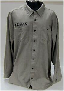 "Harley Davidson Men's 4X-Large Long Sleeve Shirt Woven ""Big-Guy"" 96731-15VM/042L"