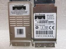 Lot 2 Cisco 30-0848-01 1000BASE-ZX GBIC Optical Transciever Modules