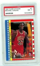1987 Fleer Sticker #2 Michael Jordan PSA 7 Chicago Bulls