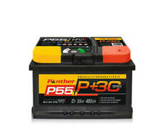 Autobatterie Starterbatterie Panther Black Edition +30%  12V 55Ah 480A P+55T