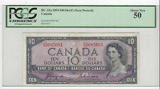 *1954*BOC BC-32a, $10 Coy/Tow SN# CD 5085601 PCGS AU-50 Devil's Face Note