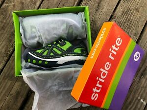 Stride Rite Soft Motion Damien Baby Boys Sneakers Athletic Shoes Green Blue 5 M