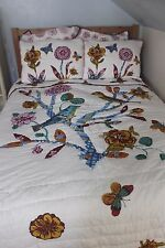 Nathalie Lete Anthropologie Tree Top Quilt Euro Std Shams Bedding Queen Birds