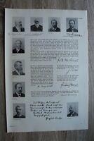 Deutsche Wissenschaft Geographie Geologie 1895-1910 Krümmel Ratzel Suess 41x29cm