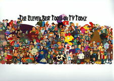 The 11 BEST TOONS On TV TODAY COLLAGE PRINT Futurama Regular Show Adventure Time