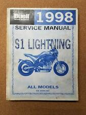 Buell Motorcycles 1998 S1 Lightning All Models Service Manual P/N 99490-98Y