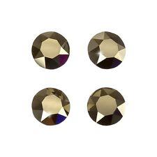 Swarovski 1088 xirius chatons métallique lumière feuille d'or dos 8mm PK4 (D102 / 5)