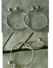 925 Silver Plated cute Baby Bangle Baby Bell Bangles/bracelets/