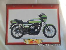 CARTE FICHE MOTO KAWASAKI Z 1100 R LAWSON REPLICA 1984