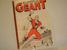 LES EXPLOITS DU GEANT Yves Chaland - Original Reader's Digest - Très RARE !