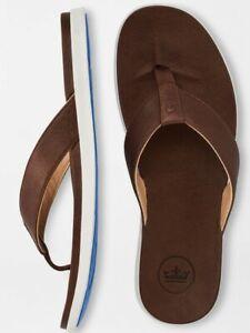 Peter Millar Mens Hyperlight Slide Flip Flop Size 12 Brown/Chocolate