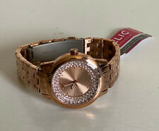NEW! RELIC PATRICIA CRYSTALS-ACCENTED DIAL ROSE GOLD STRAP BRACELET WATCH $110