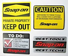 NEW Genuine Official Snap On Tools 4 Piece Decal Sticker Set #4 - FREE S/H