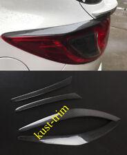 For 2013-2016 MAZDA CX-5 Real Carbon Fiber Rear Light Eyebrow Cover Trim 4PCS