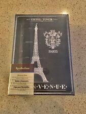 Storage Cardboard BOX w/ Tag Metallic Holder w/ Eiffel Tower