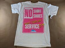 LMFAO No Shirt No Shoes T-Shirt White Size Medium NEW
