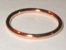 Solid 14k Rose Gold 1.25mm Stacking Ring, Knuckle Ring, Midi Ring S3-6