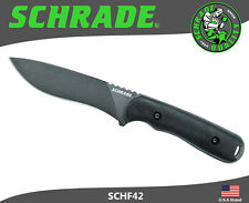Schrade Fixed Blade Knife Frontier Full Tang 1095 Carbon With Sheath SCHF42