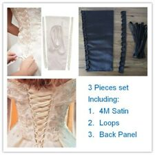 Satin Corset Wedding Gown Zipper Replacement Knit Loops With Back Panel 3PCS Set
