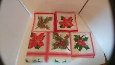 "Vintage Christmas Tablecloth 52 x 70, Unused with 6 - 16"" x 16"" Napkins"