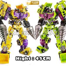 JINBAO Oversized Devastator 6pcs Set Engineering Yellow Green Action Figure Toys