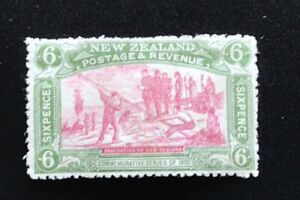 New Zealand 1906 Christchurch Exhibition 6d Flag - Mint Hinged